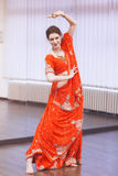 Bollywood dancer. Portrait of  bollywood dancer in dance studio Royalty Free Stock Photo