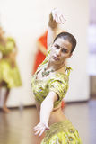 Bollywood dancer. Portrait of  bollywood dancer in dance studio Royalty Free Stock Photography