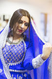 Bollywood dancer. Portrait of  bollywood dancer in dance studio Royalty Free Stock Image