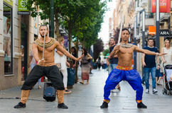 Bollywood dancers Stock Images