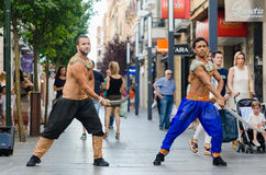 Bollywood dancers Stock Photo