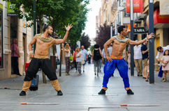Bollywood dancers Royalty Free Stock Images