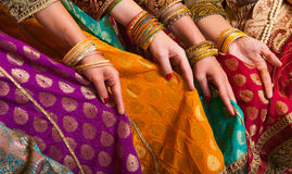 Bollywood dancers dress Royalty Free Stock Images