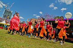 Bollywood dancers at multicultural festival in Sydney Stock Photo