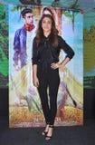"""Bollywood främjar den toppna stjärnan Anushka Sharma hennes kommande film""""Phillauri"""" i Bhopal Royaltyfri Foto"""