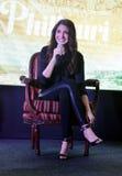 """Bollywood främjar den toppna stjärnan Anushka Sharma hennes kommande film""""Phillauri"""" i Bhopal Arkivfoto"""