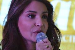 """Bollywood främjar den toppna stjärnan Anushka Sharma hennes kommande film""""Phillauri"""" i Bhopal Royaltyfri Bild"""