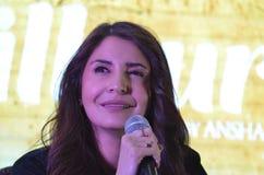 """Bollywood främjar den toppna stjärnan Anushka Sharma hennes kommande film""""Phillauri"""" i Bhopal Fotografering för Bildbyråer"""