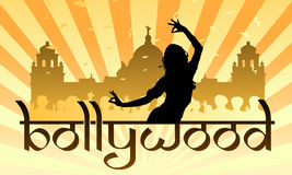 Bollywood indian film industry dance. Vector illustration as colourful background for bollywood, the indian movie and cinema industry in bombay named after the stock illustration