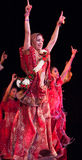 Bollywood kommt nach Barcelona mit dem Musical an Stockbilder