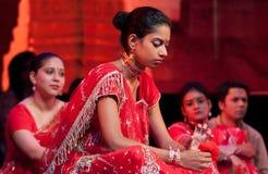 Bollywood kommt nach Barcelona mit dem Musical an Stockbild