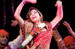 Bollywood komt aan Barcelona met de musical aan Stock Foto's