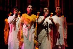 Bollywood komt aan Barcelona met muzikale Bollywood uitgevoerd Love Story aan, bij Theater Victoria Stock Fotografie