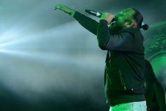 Bollywood piosenkarz Tochi Raina w Bodhgaya, Bihar, India obrazy royalty free