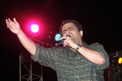 Bollywood playback singer Stock Image