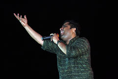 Bollywood playback singer. Kunal Ganjawala is performing in a stage show in India Stock Images