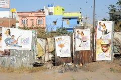 Bollywood posters at Mysore Royalty Free Stock Photo