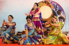 Bollywood-Show während Orientale-Festivals in Genua, Italien lizenzfreies stockbild