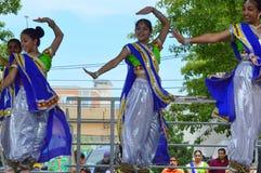 Bollywood tana występ przy Chinatown lata jarmarkiem 2016 Obrazy Royalty Free