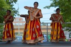 Bollywood tana występ przy lato jarmarkiem 2016 Fotografia Stock