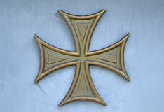 Bolnisi gilded cross Royalty Free Stock Photography