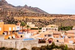 Bolnuevo, Mazarron,穆尔西亚,西班牙 免版税库存照片