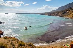 Bolnuevo beach in Mazarron Stock Photography