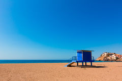 Bolnuevo beach in Mazarron Murcia at Spain Royalty Free Stock Photography