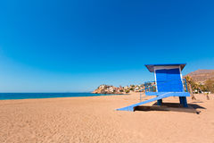 Bolnuevo beach in Mazarron Murcia at Spain Royalty Free Stock Image