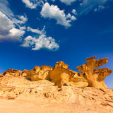 Bolnuevo Mazarron eroded sandstones Murcia Royalty Free Stock Photo