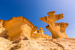 Bolnuevo Mazarron eroded sandstones Murcia Royalty Free Stock Photography