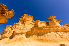 Bolnuevo Mazarron eroded sandstones Murcia Stock Photos