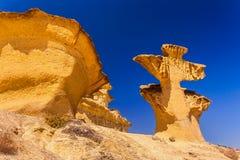 Bolnuevo Mazarron eroded sandstones in Murcia spain stock image