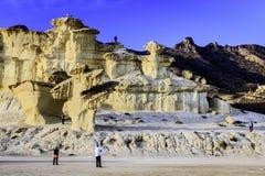 Bolnuevo-Sandsteinskulpturen Lizenzfreies Stockbild