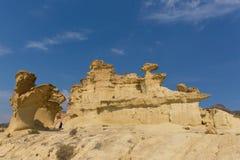 Free Bolnuevo Sandstone Rock Sculptures Tourist Attraction Near Mazarron Mazarrón Spain Royalty Free Stock Photography - 128490687