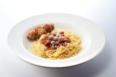 Boloñés Spagetti con la bola de carne Fotos de archivo libres de regalías