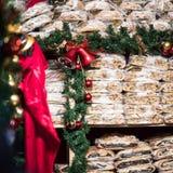 Bolo alemão tradicional do Natal - arando Stollen, Natal Fotografia de Stock