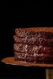 Bolo caseiro do chocolate Imagem de Stock
