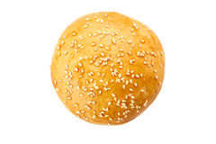 Bolo caseiro do hamburguer no branco Foto de Stock