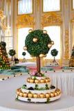 Bolo com árvore Imagem de Stock
