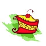 Bolo com cereja Foto de Stock Royalty Free
