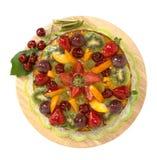 Bolo com fruta fresca foto de stock
