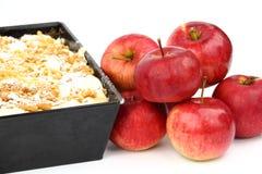 Bolo com maçãs Fotografia de Stock