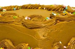 Bolo com o chocolate que fosting Imagens de Stock