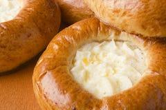 Bolo com queijo de casa de campo Fotos de Stock Royalty Free