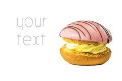 Bolo cor-de-rosa Imagem de Stock