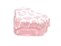 Bolo cor-de-rosa dado forma coração isolado (imagem 8.2mp) fotografia de stock royalty free