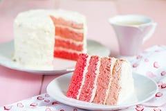 Bolo cor-de-rosa de Ombre Imagem de Stock
