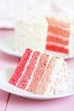 Bolo cor-de-rosa de Ombre Foto de Stock