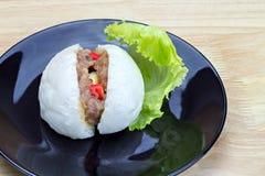 Bolo cozinhado chinês do material Fotografia de Stock